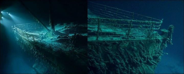 "Фотографии затонувшего ""Титаника"", фото на дне, до и после (30)"
