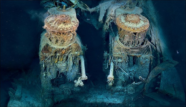 "Фотографии затонувшего ""Титаника"", фото на дне, до и после (39)"