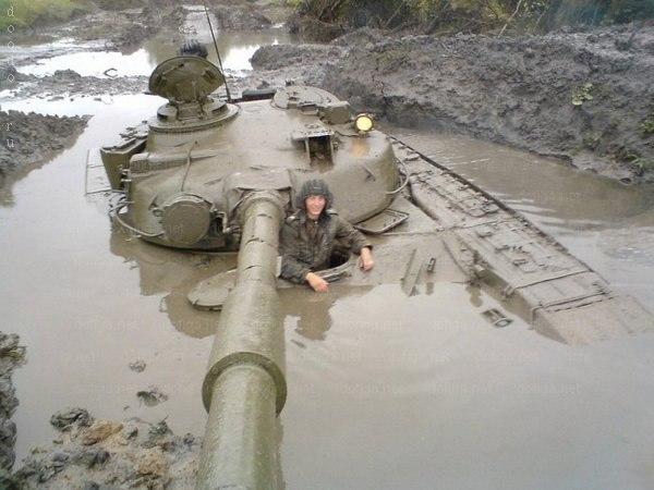 Как застревают танки. Застрявшие танки, фото и видео (2)