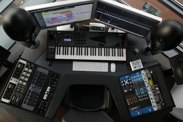 Фото домашних студий звукозаписи с профессиональной аппаратурой (24)