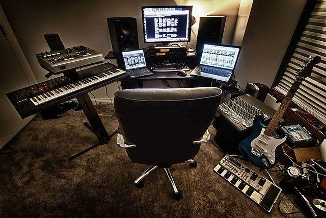 Фото домашних студий звукозаписи с профессиональной аппаратурой (13)