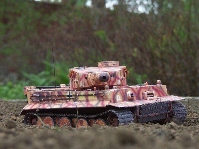 """Бумажная модель танка """"Тигр"""" PzKpfw VI Tiger (7)"""