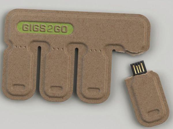 Дешёвые одноразовые флешки в корпусе из картона (1)