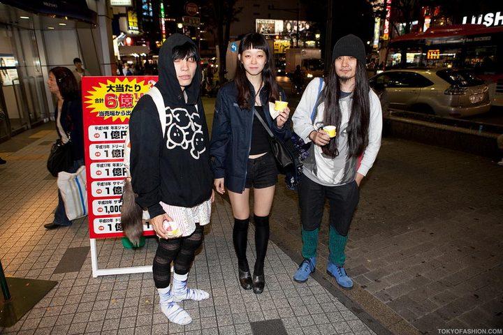 Прикольная одежда фриков. Уличная мода молодежи (29)