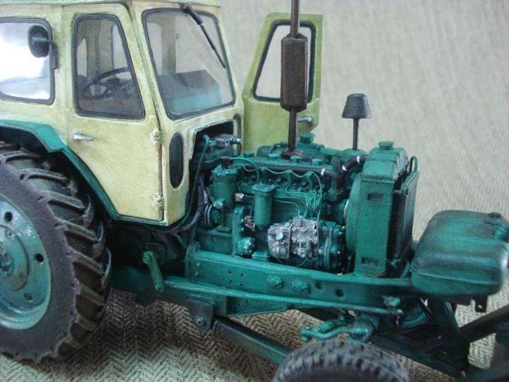 Реалистичная модель трактора из бумаги (5)