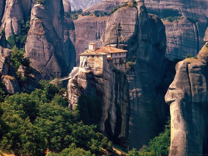 Старые монастыри в Греции Метеоры (13)