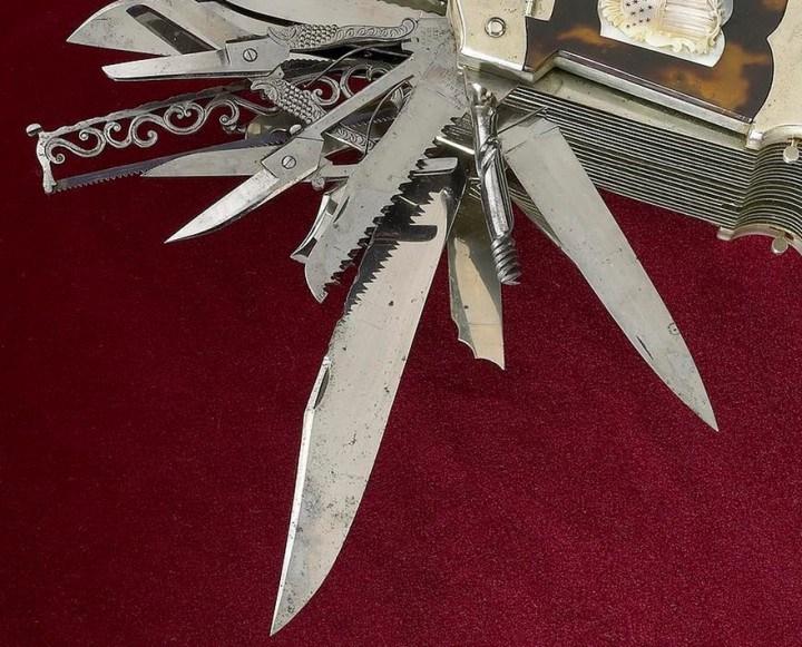 Уникальный многофункциональный нож 1880 года, Джон С. Хеллер (4)