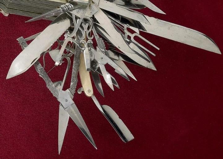 Уникальный многофункциональный нож 1880 года, Джон С. Хеллер (5)