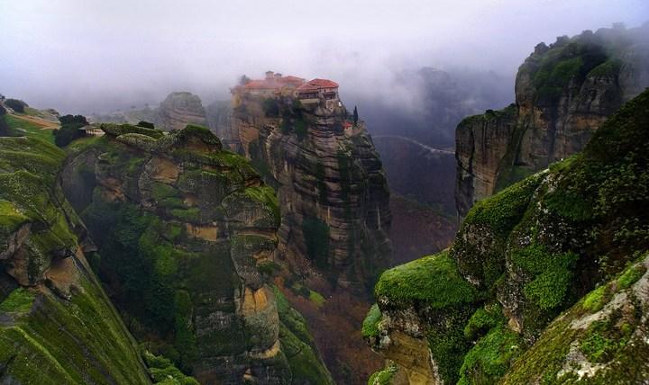 Старые монастыри в Греции Метеоры (5)