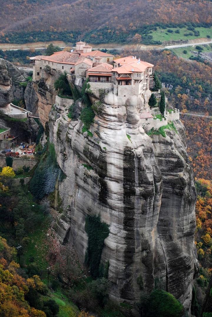 Старые монастыри в Греции Метеоры (3)
