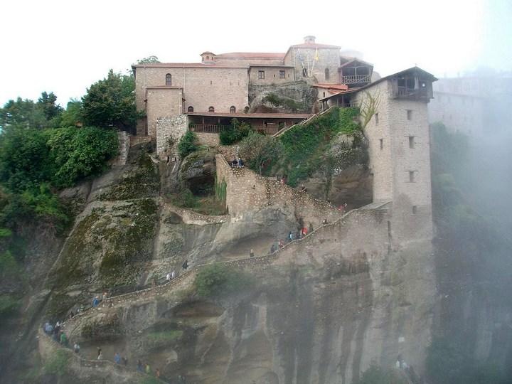 Старые монастыри в Греции Метеоры (2)