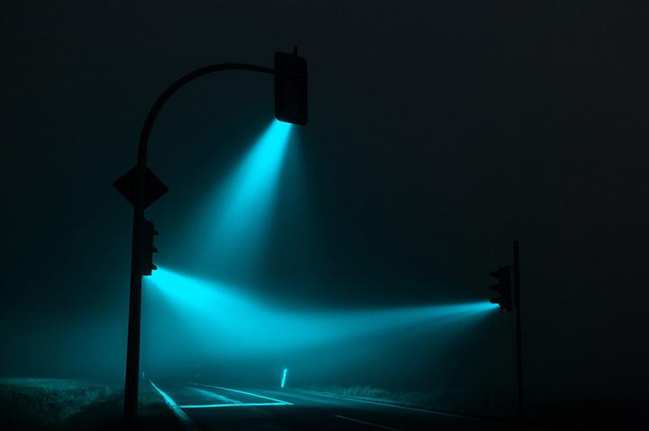 Красивые ночные снимки света от светофора (2)