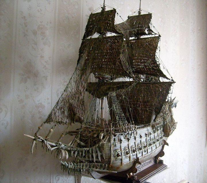 """Модель легендарного корабля """"Летучий голландец"""" своими руками (1)"""