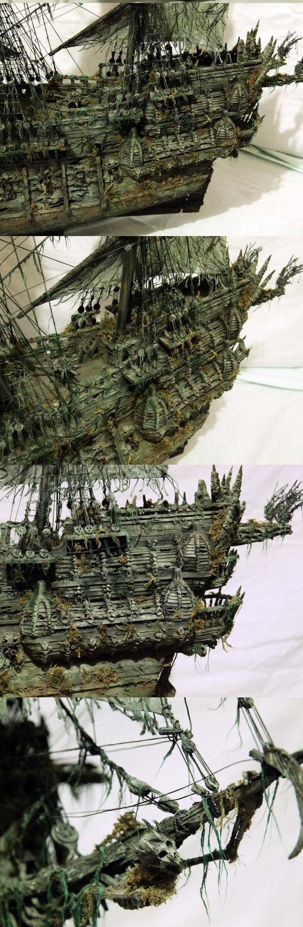 """Модель легендарного корабля """"Летучий голландец"""" своими руками (16)"""