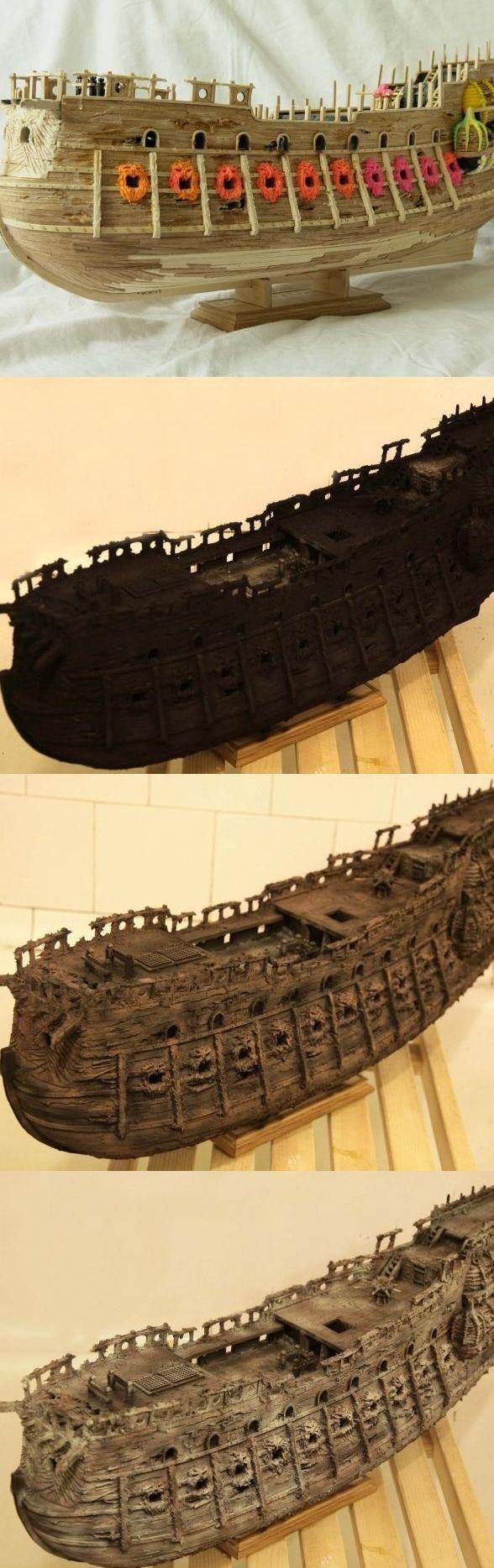 """Модель легендарного корабля """"Летучий голландец"""" своими руками (5)"""
