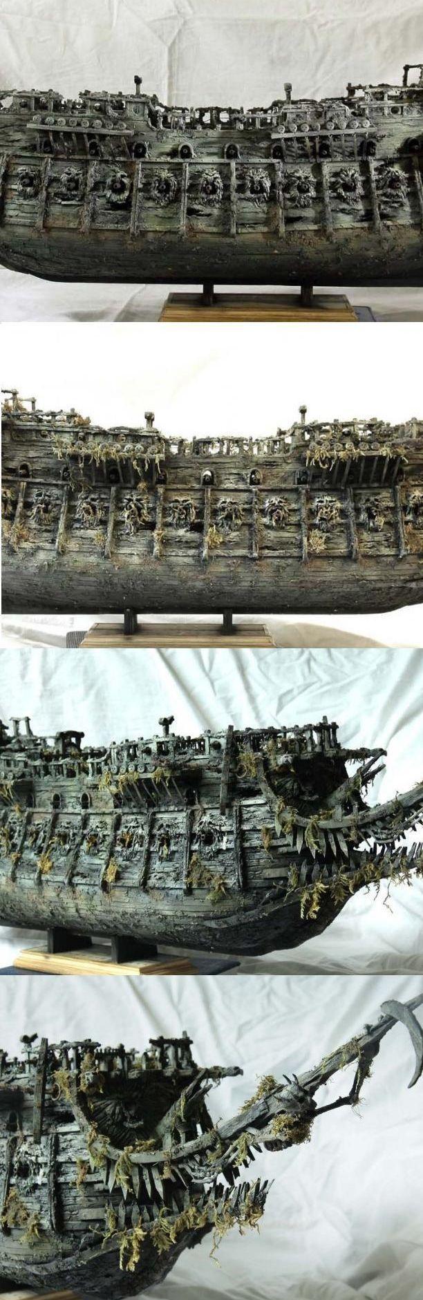 """Модель легендарного корабля """"Летучий голландец"""" своими руками (9)"""