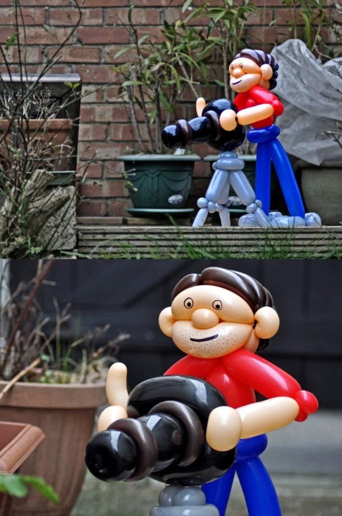 Красивые фигуры из длинных воздушных шаров. Примеры фигур из воздушных шаров (9)