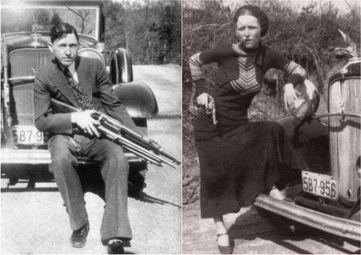 Знаменитые гангстеры Бонни и Клайд. Как это было (1)