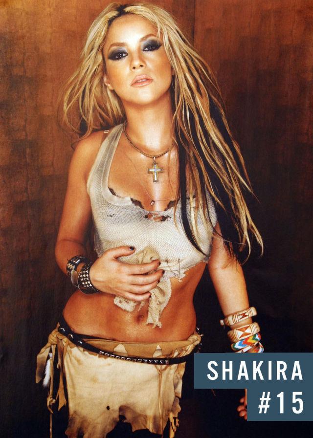Самые популярные девушки интернета. Рейтинг ТОП - 50 Shakira (Шакира) (36)