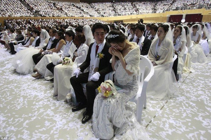 Самая массовая церемония бракосочетания в Южной Корее (1)
