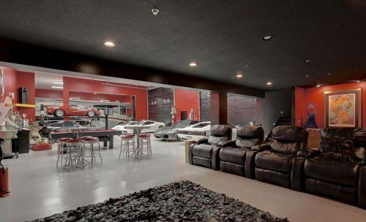 Такой гараж мечта любого мужчины, Крутой интерьер гаража (8)