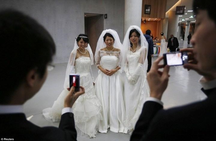 Самая массовая церемония бракосочетания в Южной Корее (3)