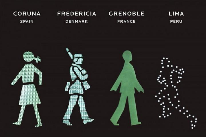 The Walking Men – идущие зеленые человечки со светофоров пешеходного перехода (3)