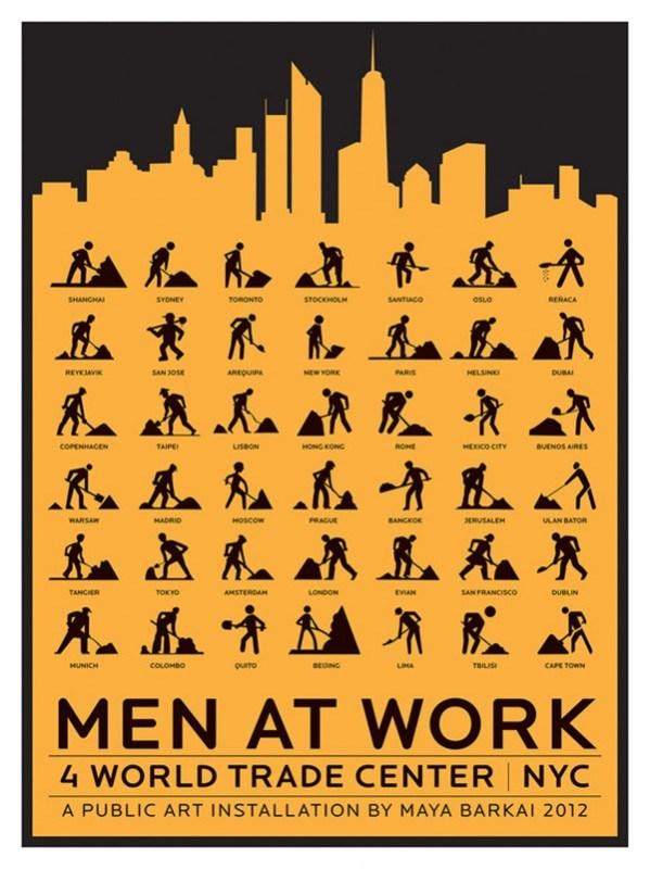 The Walking Men – идущие зеленые человечки со светофоров пешеходного перехода (11)
