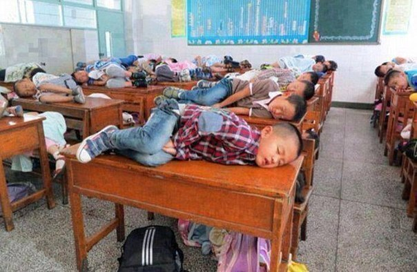 Сон-час в китайской школе
