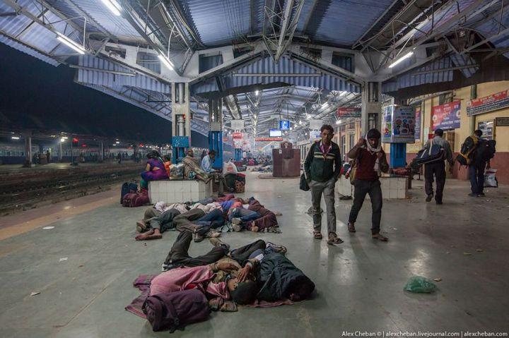 В общем вагоне индийского поезда (25)