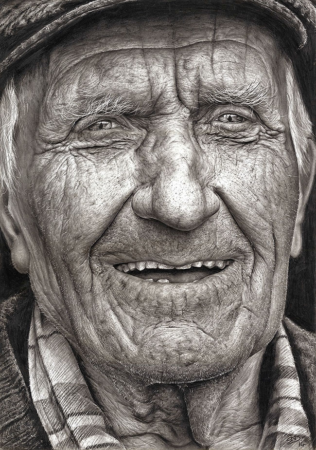 Реалистичный карандашный рисунок