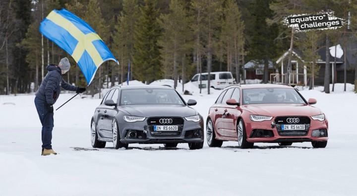 "Спонсируемое видео. ""Ледовое побоище"" Audi RS 6 Avant quattro (2)"