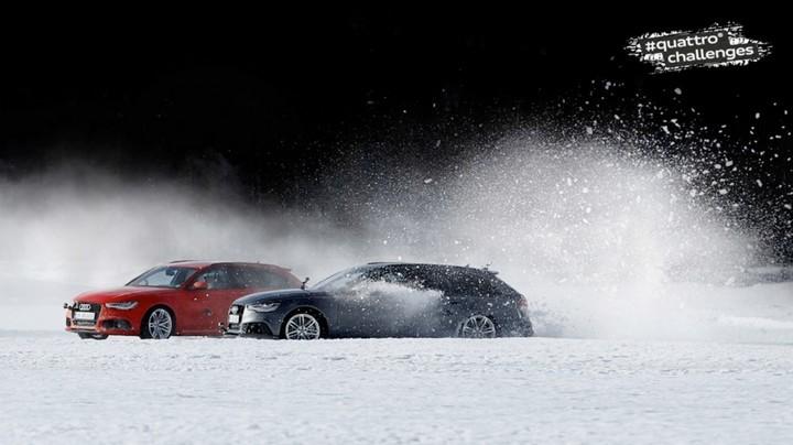 "Спонсируемое видео. ""Ледовое побоище"" Audi RS 6 Avant quattro (3)"