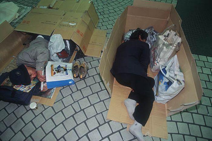 Коробочные люди на станции Синдзюку (4)