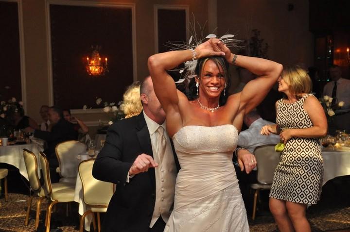 Свадьба бодибилдерши из Германии Gabrielle Hames (1)