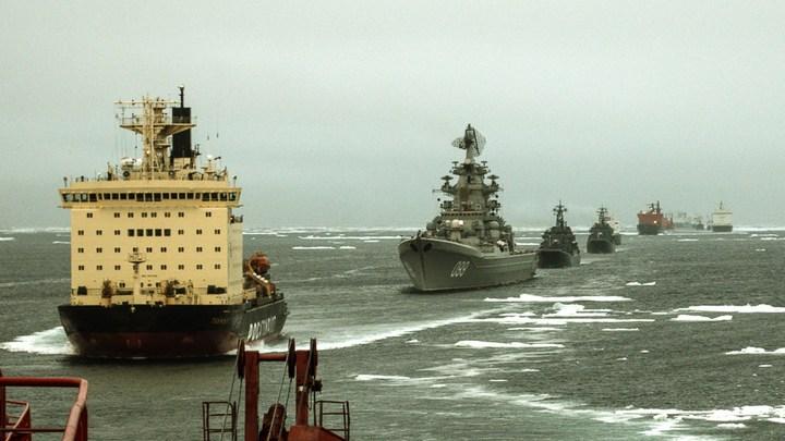 Ледокольная проводка отряда кораблей Северного флота (5)