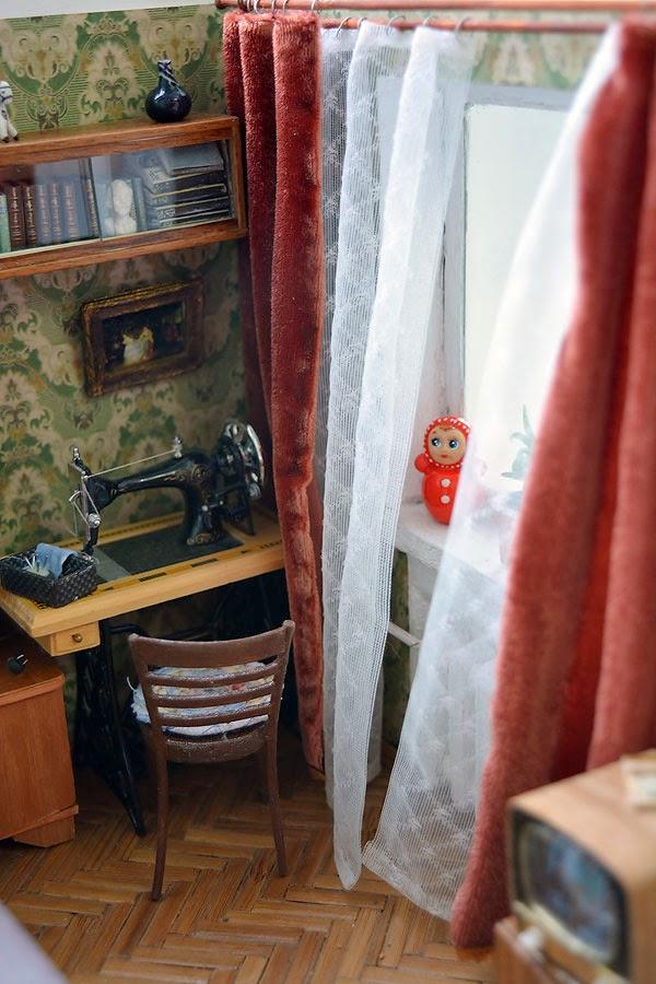 миниатюрная копия комнаты с мебелью (10)
