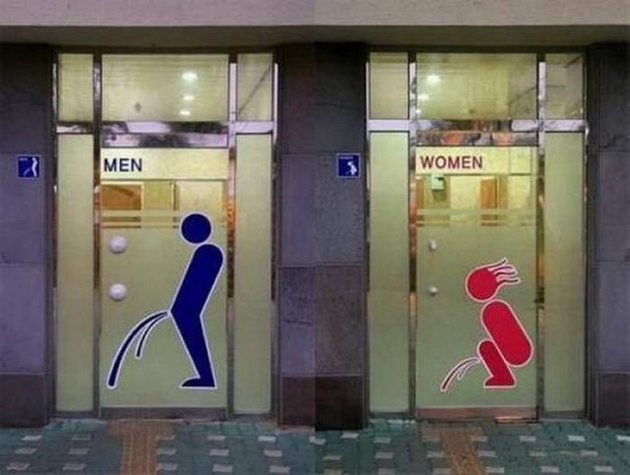 Подборка с креативными табличками на общественных туалетах (7)