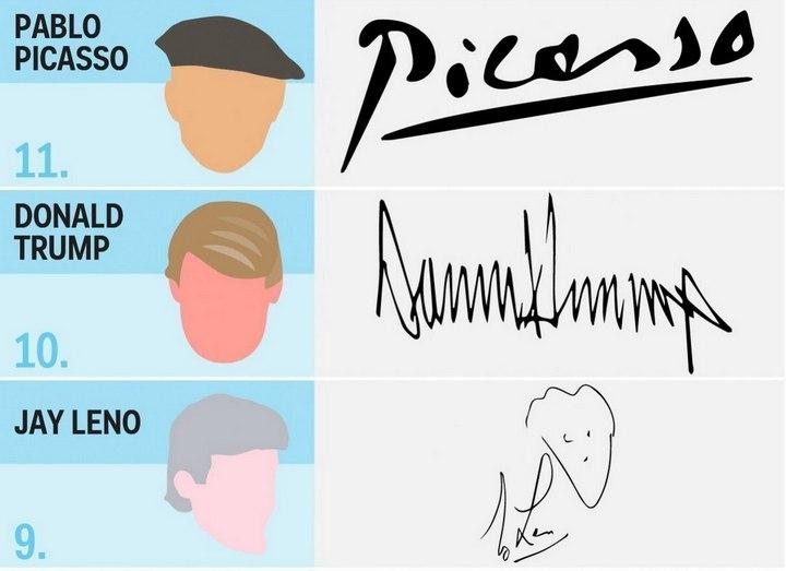 17 необычных автографов знаменитостей (6)