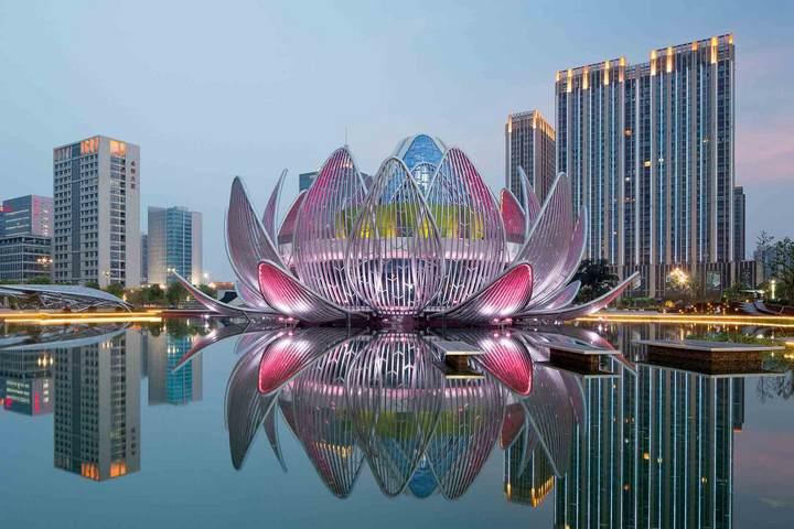 Удивительное архитектурное сооружение — Лотос в Чанчжоу (1)