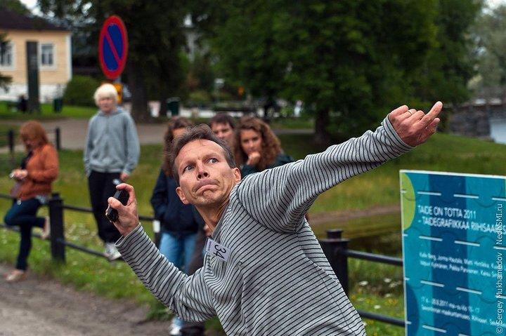 Чемпионат по метанию мобильных телефонов в Финляндии (6)