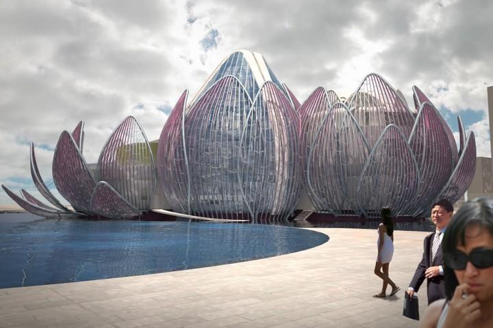 Удивительное архитектурное сооружение — Лотос в Чанчжоу (6)