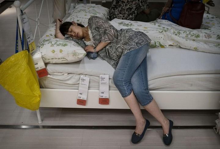 Спящие китайцы в мебельных магазинах (4)