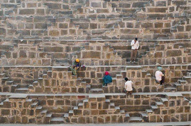 Древний колодец Чанд Баори в Индии (10)