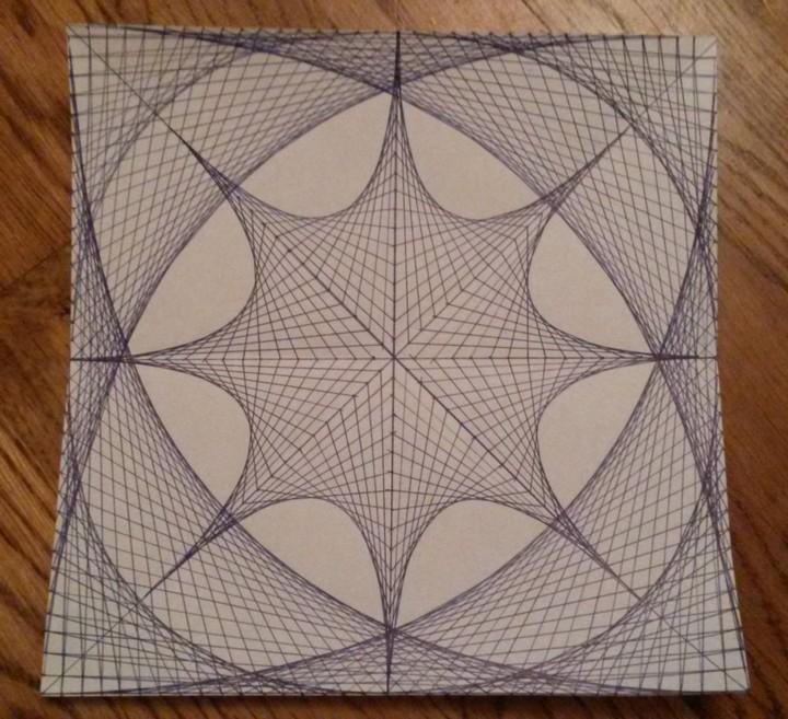 Для создания этого рисунка использовались только прямые линии...
