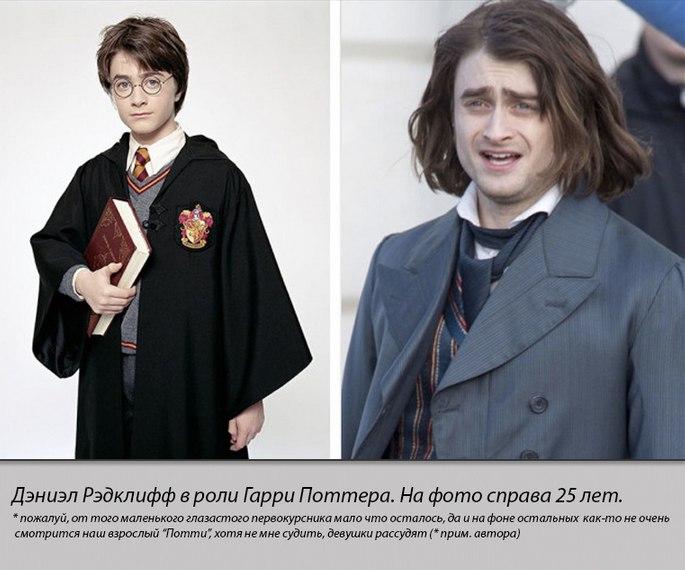 Герои кинологии Гарри Поттер тогда и сейчас (1)