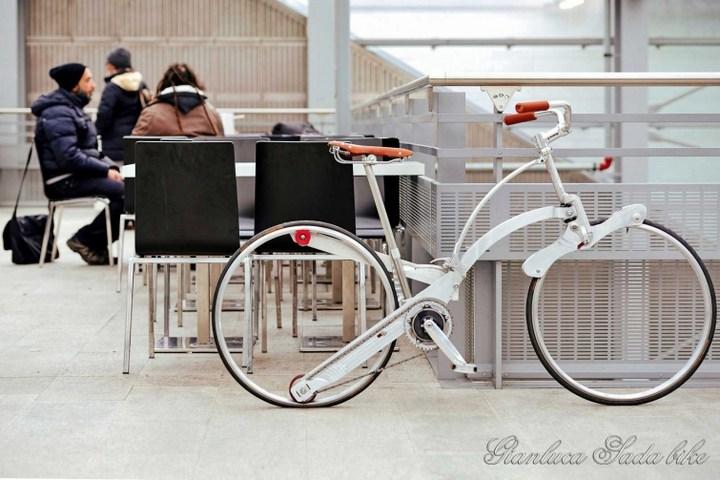 Необычный складной велосипед (5)