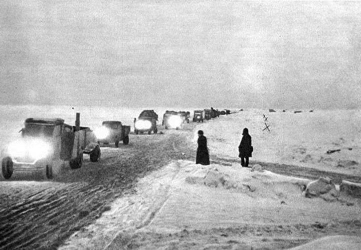 Ледовая дорога жизни, блокадный Ленинград (7)