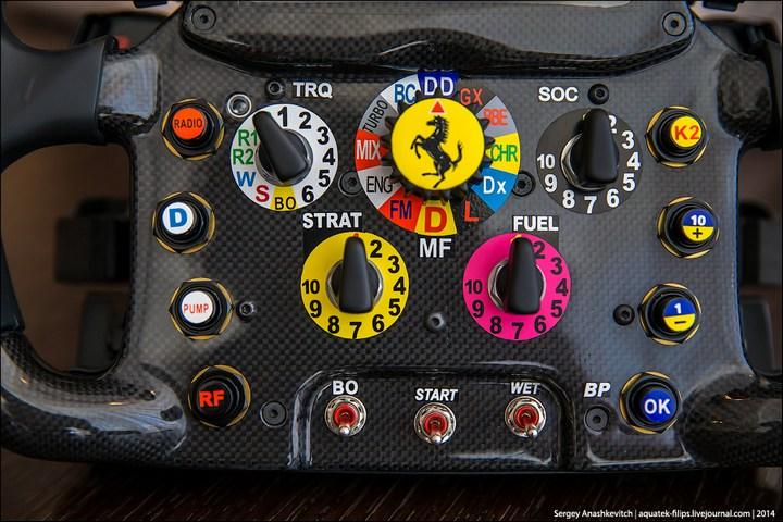 Как устроен руль Формулы-1 (3)