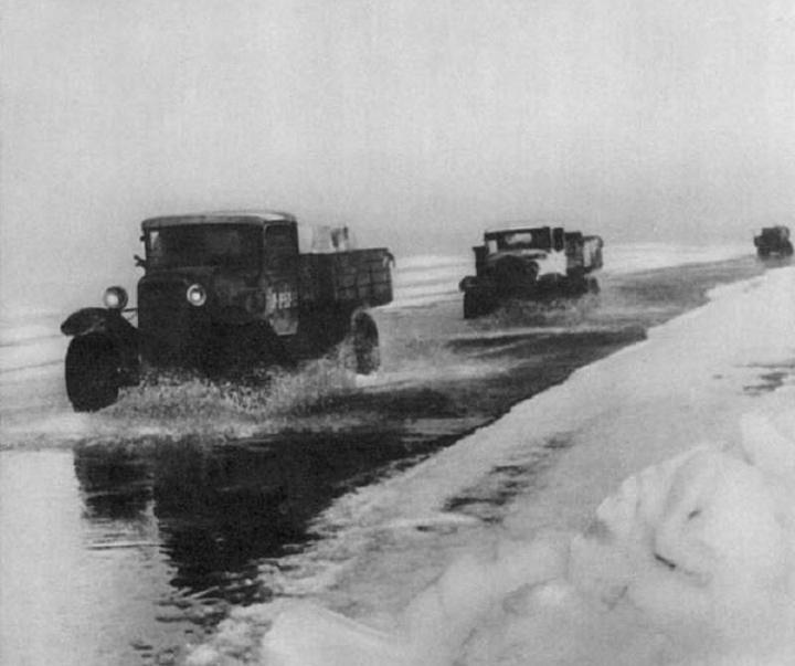 Ледовая дорога жизни, блокадный Ленинград (8)
